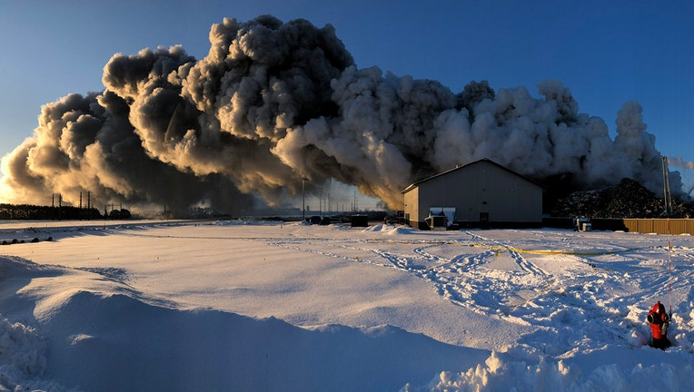 Northern Metals fire in Becker, Minnesota