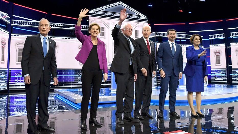 3df9c6fa-Democratic Presidential Candidates Debate In Las Vegas Ahead Of Nevada Caucuses