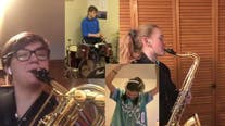 Minnesota band students perform 'Bad Guy' social distancing style