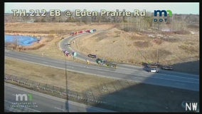 Driver injured in rollover crash in Eden Prairie, Minnesota
