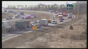 I-94 westbound closed in Monticello, Minn. for serious crash