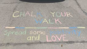 People take to sidewalks with colorful chalk to share messages of encouragement amid COVID-19 crisis