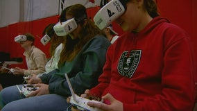 Students compete in drone racing in St. Louis Park, Minn.