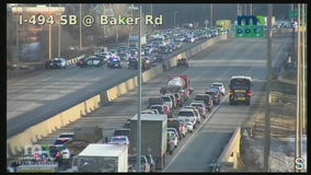 Suspect search slows traffic on I-494 in Minnetonka