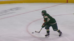 12-year-old amputee skater scores two goals during Wild practice