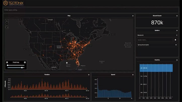 Cellphone 'heat map' shows coronavirus' potential spread