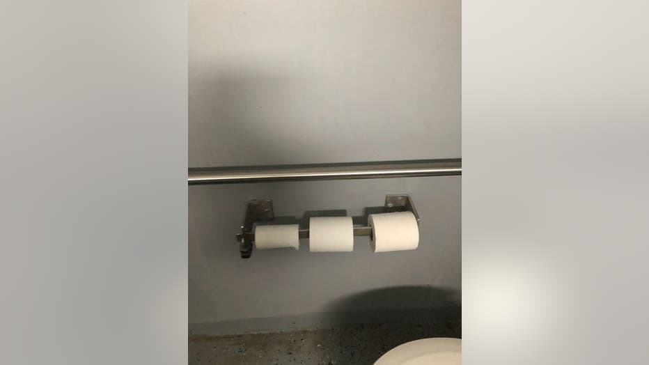 toilet paper before theft