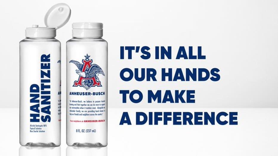 Anheuser-Busch Hand Sanitizer - Horizontal