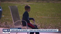 Police line up to help 7-year-old celebrate his birthday during a difficult time