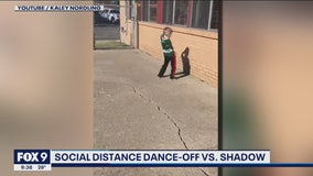 Minnesota Positivity: Boy holds dance-off with shadow