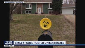 Minnesota Positivity: Smileys on mailboxes
