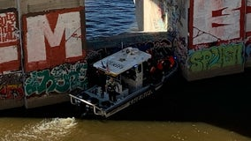 Woman rescued after she rappelled down Ford Bridge to fish