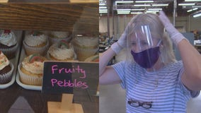 Cupcake shop and ID badge company team up to deliver face shields to first responders