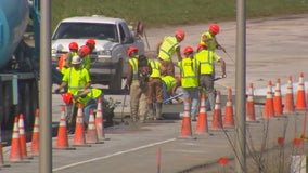 Decreased traffic allows MnDOT road construction crews to close more lanes