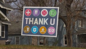 Edina, Minnesota family selling 'Thank U' signs to give back to heroes of COVID-19 pandemic