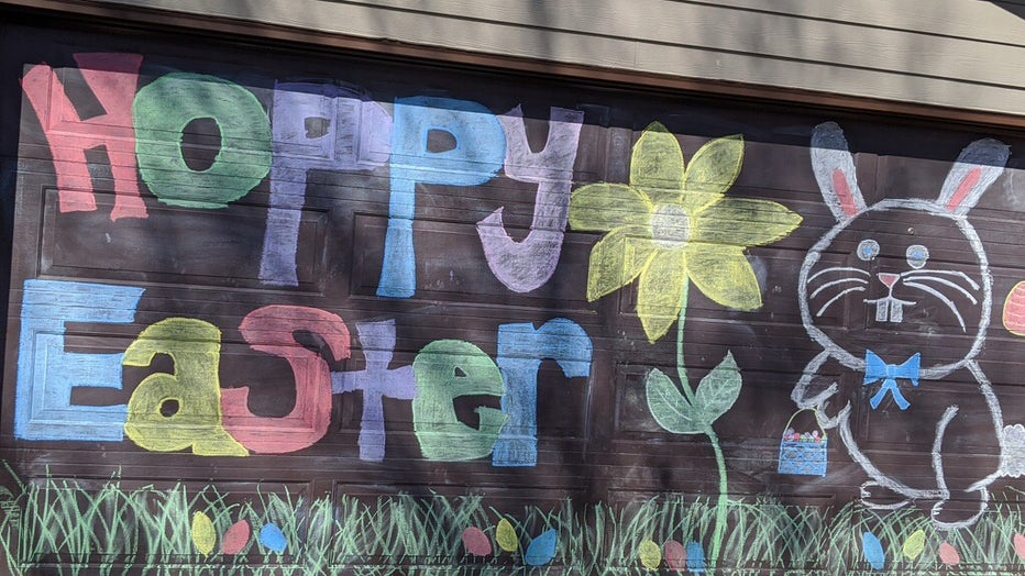 garage easter decor