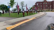 Car parade rolls past Minnesota Veterans Home for Memorial Day
