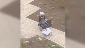 Husband sets up 'date nights' outside hospital window while wife is on bedrest awaiting birth of son