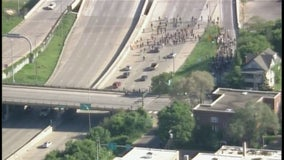 Protest disrupts traffic on I-35W at University Ave in Minneapolis