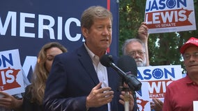 Senate candidate Jason Lewis holds 'Back the Blue' town hall