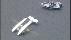 2 rescued after float plane capsizes during take off on Lino Lakes, Minnesota lake
