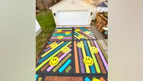 50 hours and 18 gallons of paint later, Richfield man completes driveway mural
