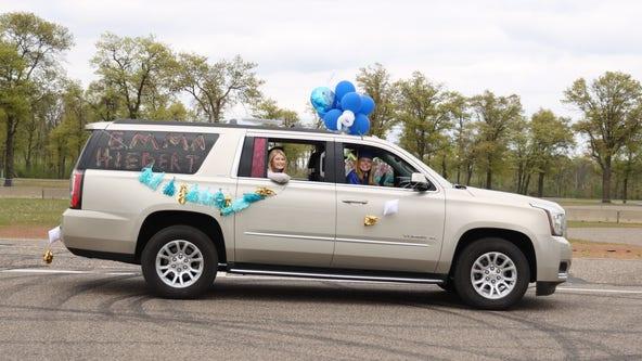 Brainerd High School celebrates graduation with procession at Brainerd International Raceway