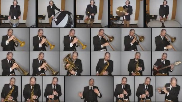 Minnesota band director plays 24 parts to 'Pomp and Circumstance' to honor his graduating seniors