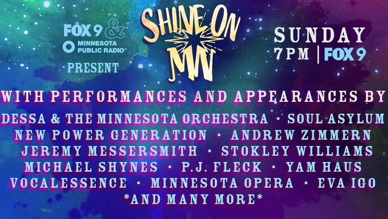 Shine on MN artist and guest lineup