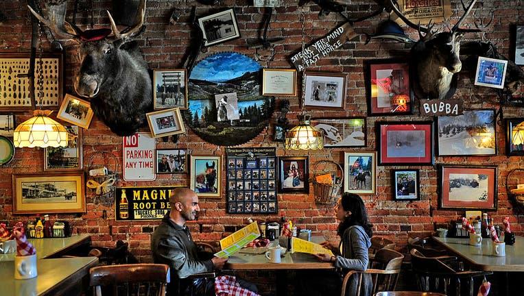 Neel and Minal Kashkari lunch at the Wagon Train Coffee Shop
