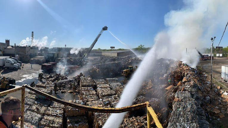 fire at st. paul recycling center