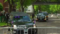 Hearse carrying George Floyd arrives at Minneapolis memorial