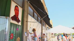Art teachers help transform exteriors of boarded-up Uptown businesses