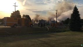Crews respond to large fire in Hanover, Minnesota