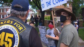 Protesters face off outside Minnesota Governor's Residence over police reforms