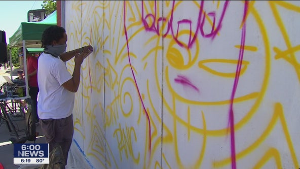 After unrest in Minneapolis, artists finding ways to send hope on Franklin Avenue