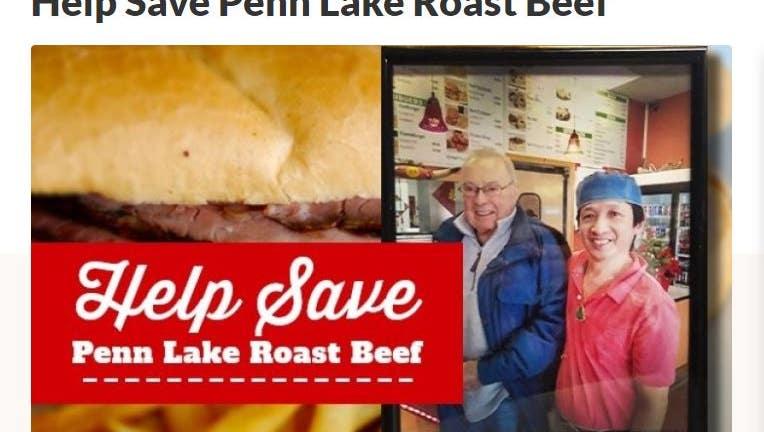 GoFundMe for Penn Lake Roast Beef in Bloomington, Minnesota