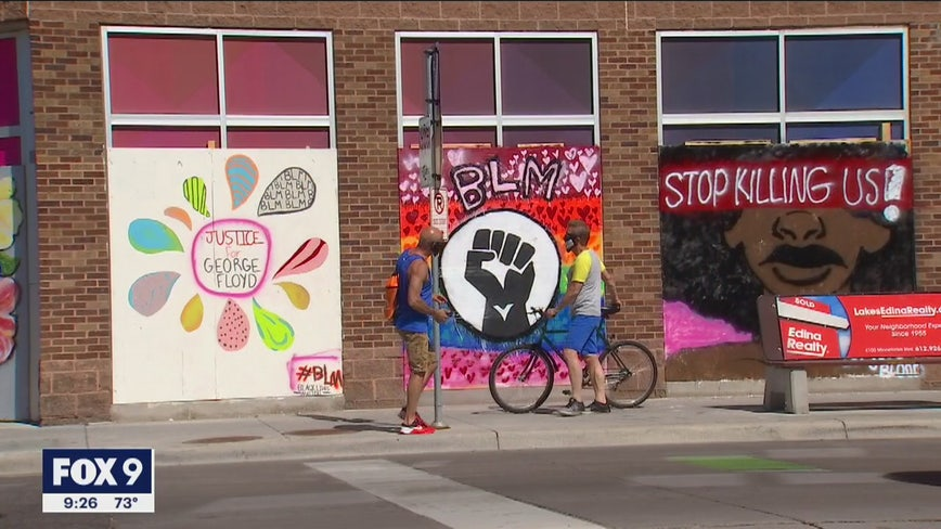 Minneapolis artists use murals to cope with loss after unrest