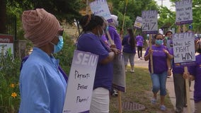 St. Paul nursing home workers hold 24-hour strike demanding better pay, more PPE