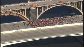 Protesters shut down traffic, march onto I-35W bridge in Minneapolis in response to unrest in Ethiopia