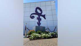 Paisley Park unveils new 11-foot statue of Prince's love symbol