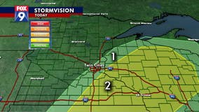 Another round of storms moves into Minnesota, western Wisconsin Tuesday