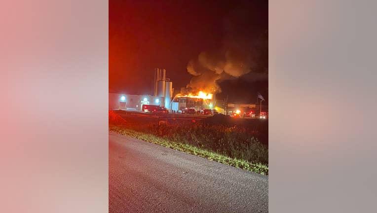 Burnett Dairy Cooperative fire