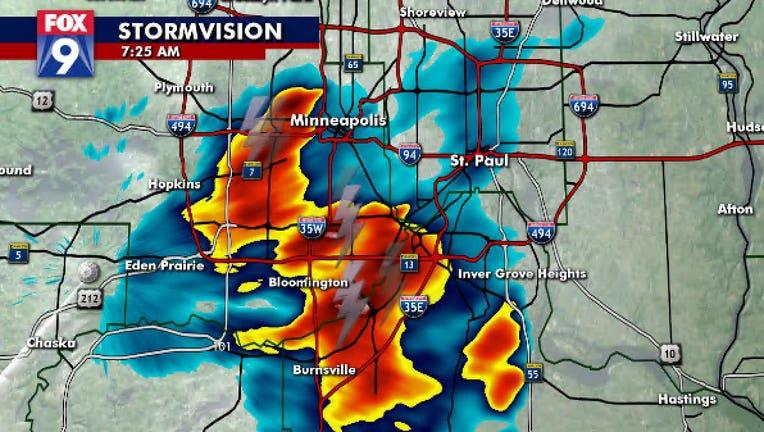 Monday storm radar