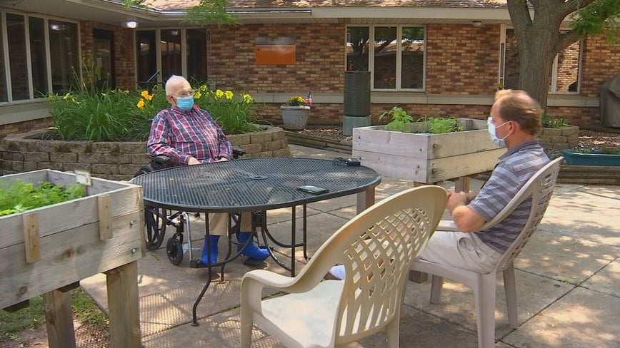As Minnesota continues to relax COVID restrictions, seniors get chance to visit face-to-face with loved ones