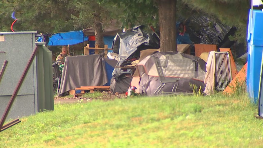 City of Maplewood clears out homeless encampment near library, helps remaining residents find housing