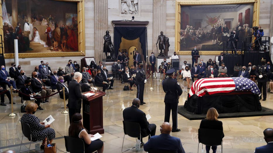 Rep. John Lewis Lies In State At The US Capitol Building