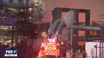Fire destroys construction site in downtown St. Paul