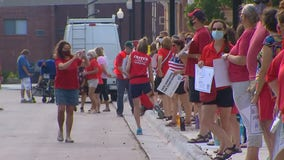 Teachers from Minnesota's largest school district call for transparency, safety during rally