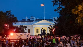 Protesters gather outside White House to disrupt President Trump's RNC acceptance speech